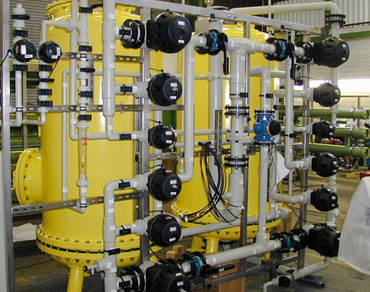 Deionised water production for a Power Station