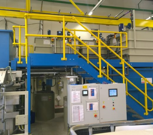 Installed Aviation plant shwoing chemical treatment tanks, Settlement tank and Toveko filter