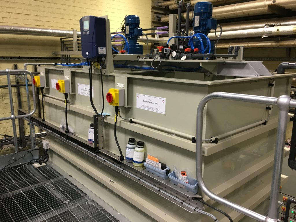 Chemical treatment tanks installed and operational